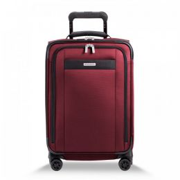Transcend Tall Carry-On Zip Expandable Spinner by Briggs & Riley (Color: Merlot)