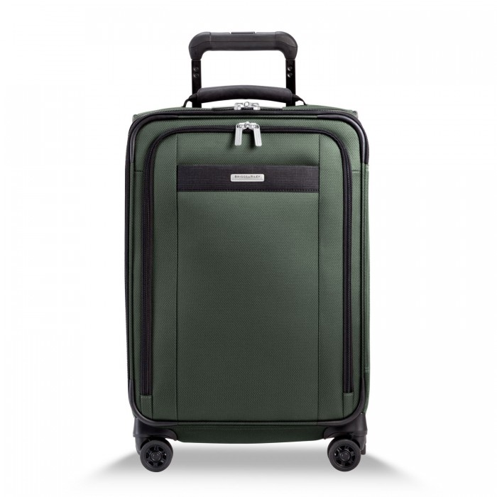 Transcend Tall Carry-On Zip Expandable Spinner by Briggs & Riley (Color: Rainforest)