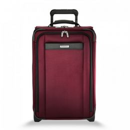 Transcend Tall Carry-On Expandable Upright (2 wheel) by Briggs & Riley (Color: Merlot)