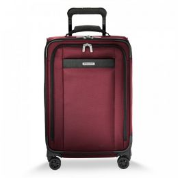 Transcend Tall Carry-On Expandable Spinner by Briggs & Riley (Color: Merlot)