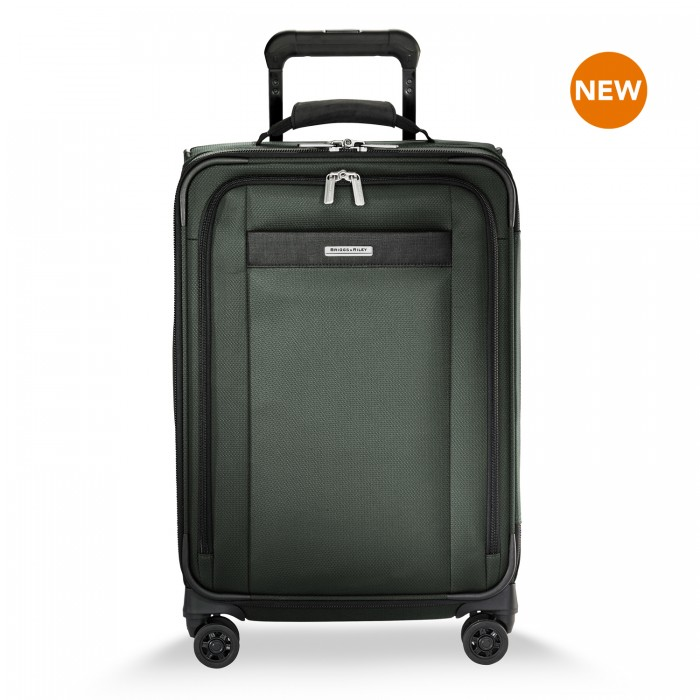 Transcend Tall Carry-On Expandable Spinner by Briggs & Riley (Color: Rainforest)