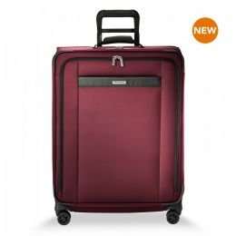 Transcend Medium Expandable Spinner by Briggs & Riley (Color: Merlot)