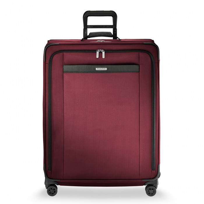 Transcend Large Expandable Spinner by Briggs & Riley (Color: Merlot)