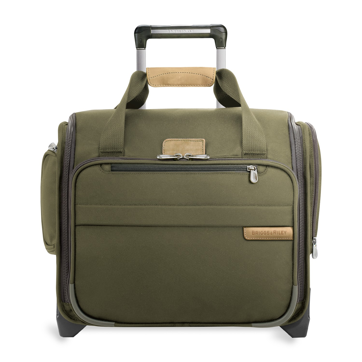 Baseline Rolling Cabin Bag (2 wheel) by Briggs & Riley (Color: Olive)