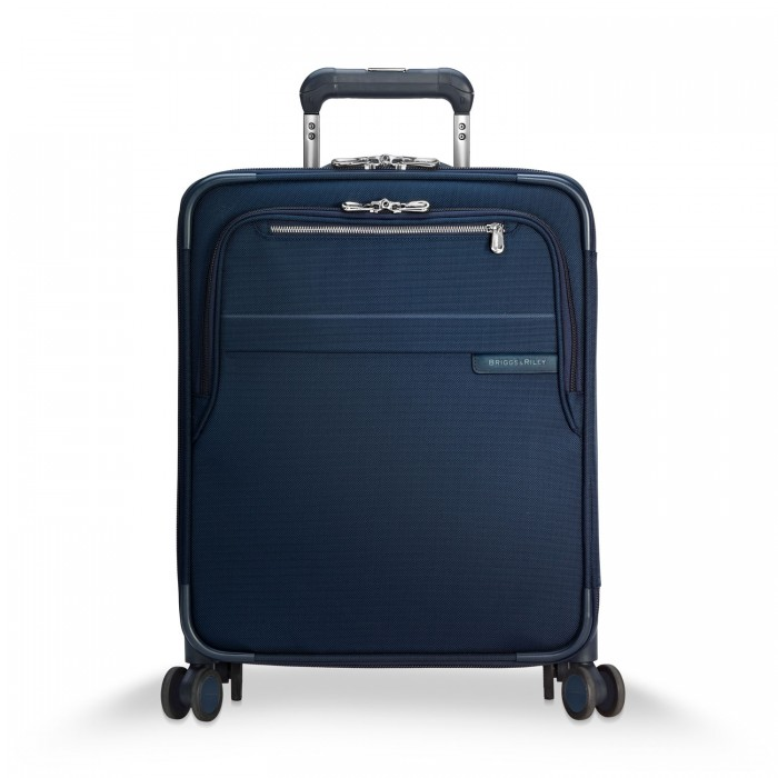 Baseline International Carry-On Expandable Wide-body Spinner by Briggs & Riley (Color: Navy)
