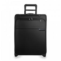 Baseline International Carry-On Expandable Wide-body Upright (2 wheel) by Briggs & Riley (Color: Black)