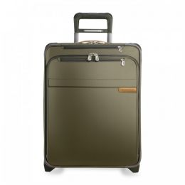 Baseline International Carry-On Expandable Wide-body Upright (2 wheel) by Briggs & Riley (Color: Olive)