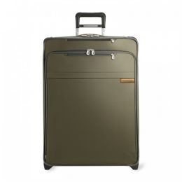 Baseline Large Expandable Upright (2 wheel) by Briggs & Riley (Color: Olive)