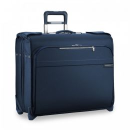 Baseline Deluxe Wheeled Garment Bag (2 wheel) by Briggs & Riley (Color: Navy)