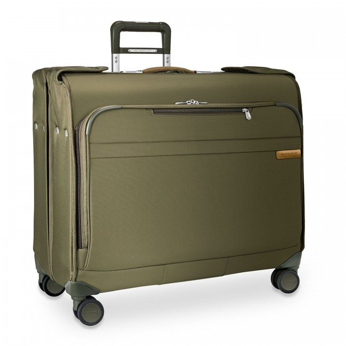 Baseline Wardrobe Spinner by Briggs & Riley (Color: Olive)