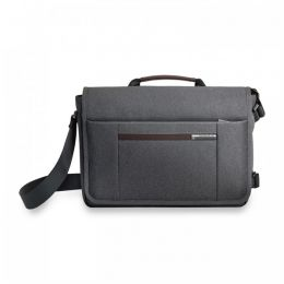 "Kinzie Street Micro Messenger for 13"" laptops by Briggs & Riley (Color: Grey)"