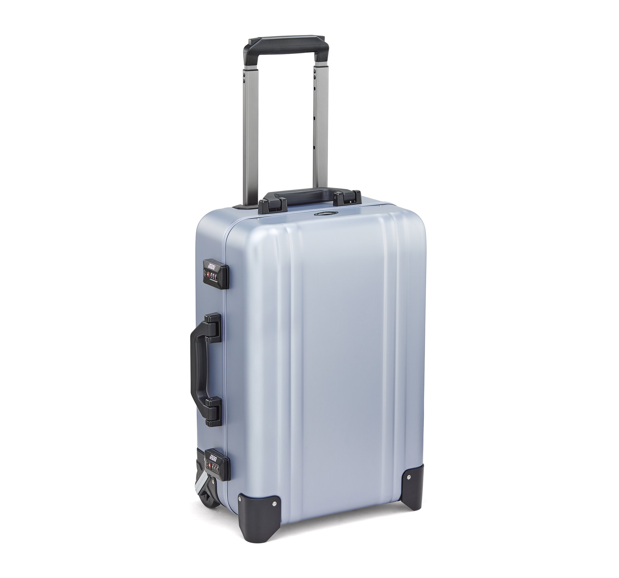 Classic Aluminum 2.0 - Carry-On 2 Wheel Luggage by Zero Halliburton (Color: Polished Blue)