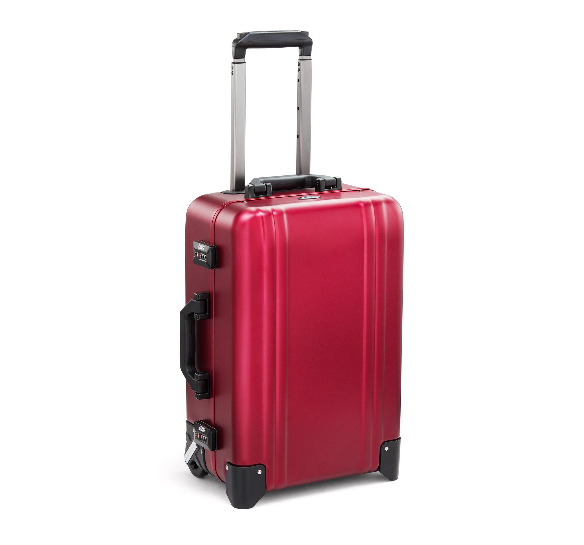 Classic Aluminum 2.0 - Carry-On 2 Wheel Luggage by Zero Halliburton (Color: Red)