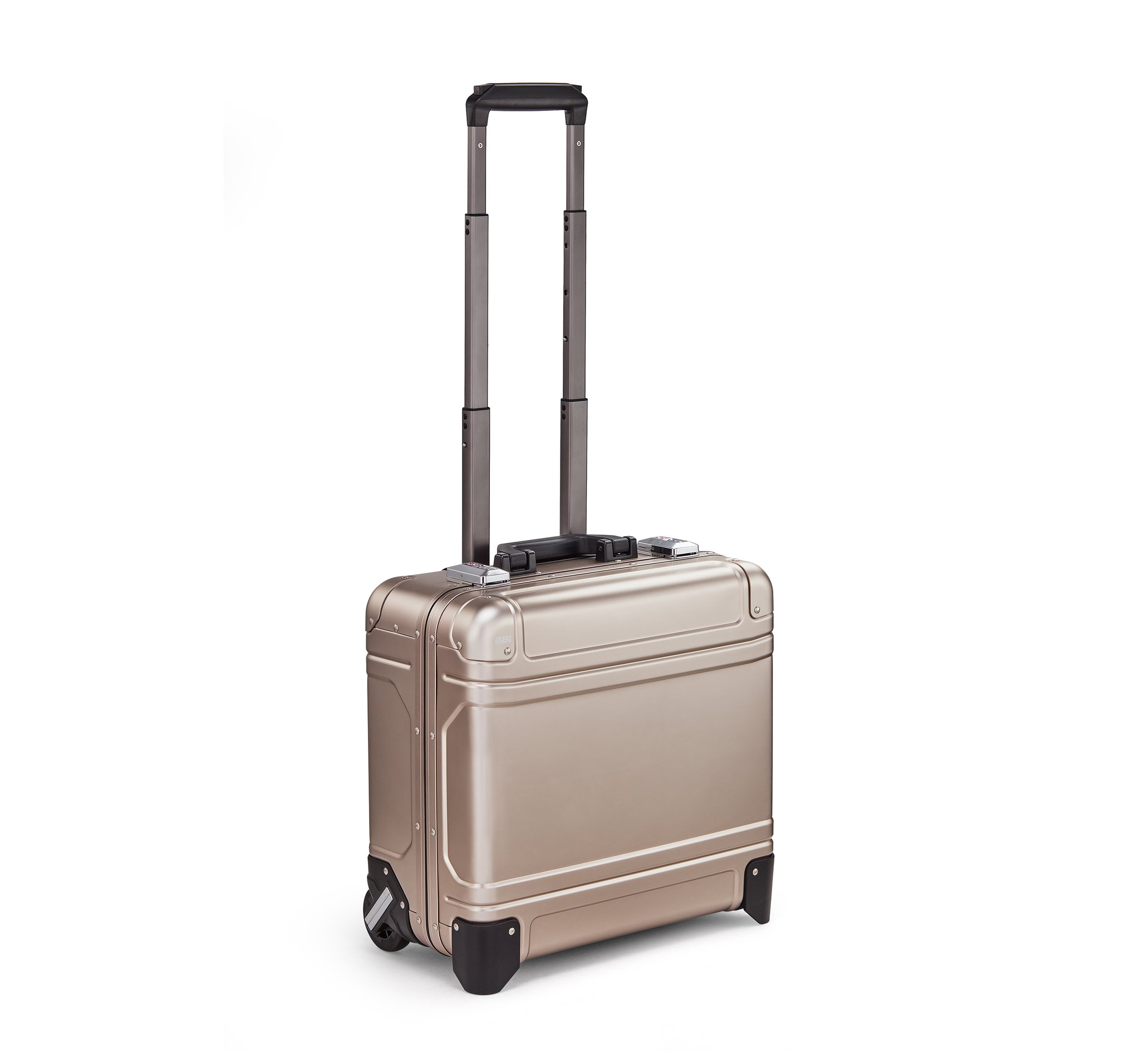 "Geo Aluminum 3.0 - 17"" Wheeled Travel Case by Zero Halliburton (Color: Bronze)"