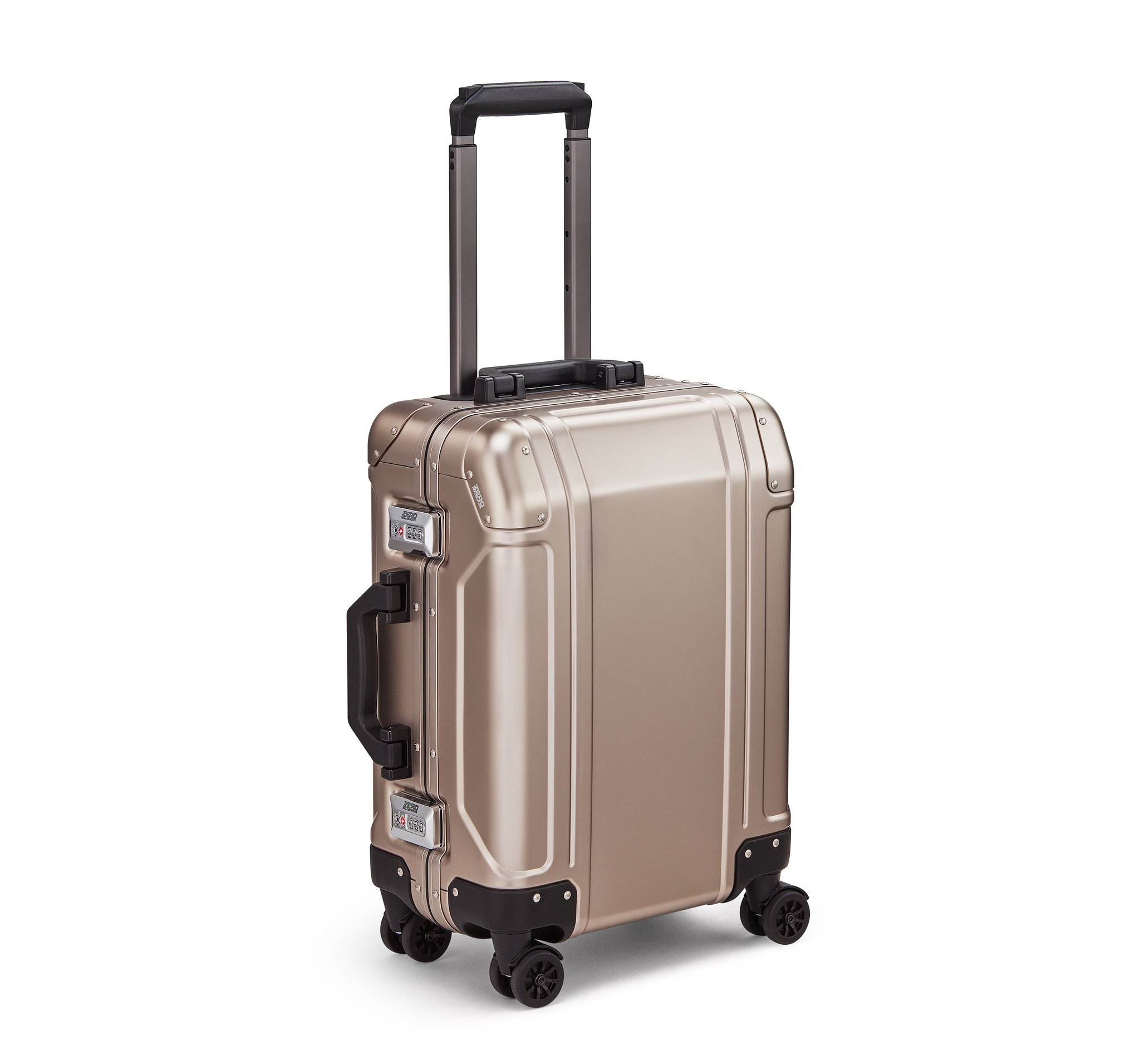 GEO Aluminum 3.0 - Carry-on 4-Wheel Spinner by Zero Halliburton (Color: Bronze)