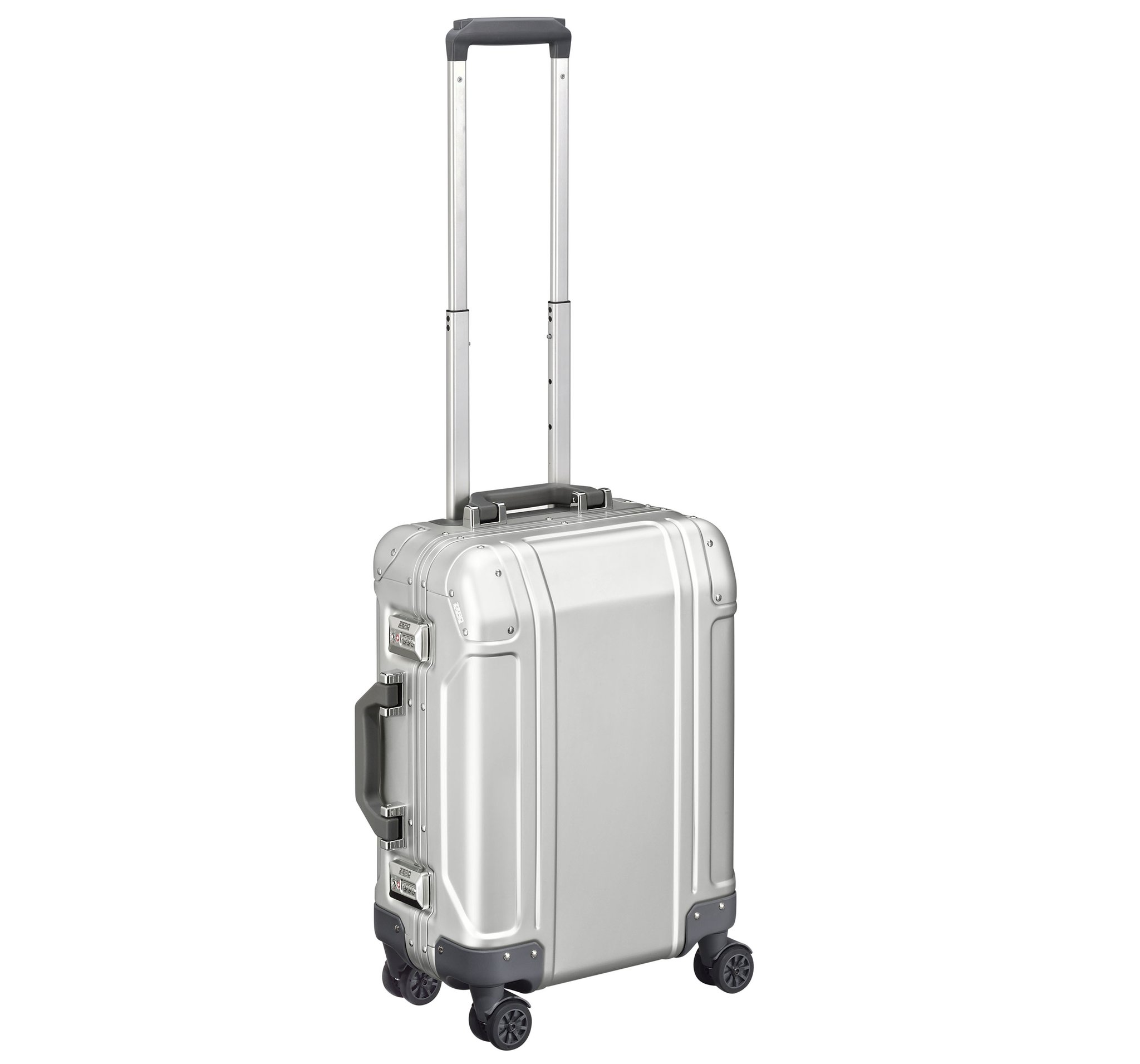 GEO Aluminum 3.0 - Carry-on 4-Wheel Spinner by Zero Halliburton (Color: Silver)