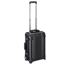 Geo Aluminum 3.0 - Carry-on 2-Wheel Travel Case by Zero Halliburton (Color: Black)