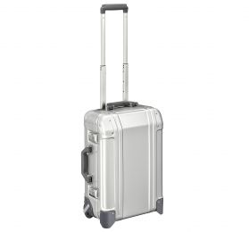 Geo Aluminum 3.0 - Carry-on 2-Wheel Travel Case by Zero Halliburton (Color: Silver)