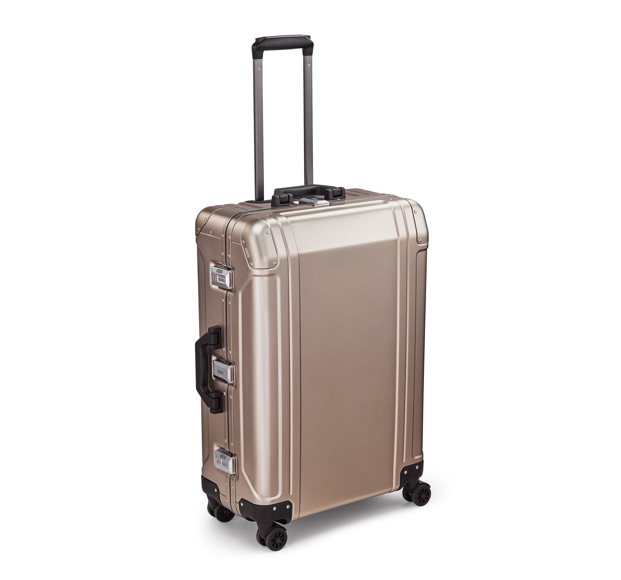 "Geo Aluminum 3.0 - 26"" 4-Wheel Spinner Travel Case by Zero Halliburton (Color: Bronze)"