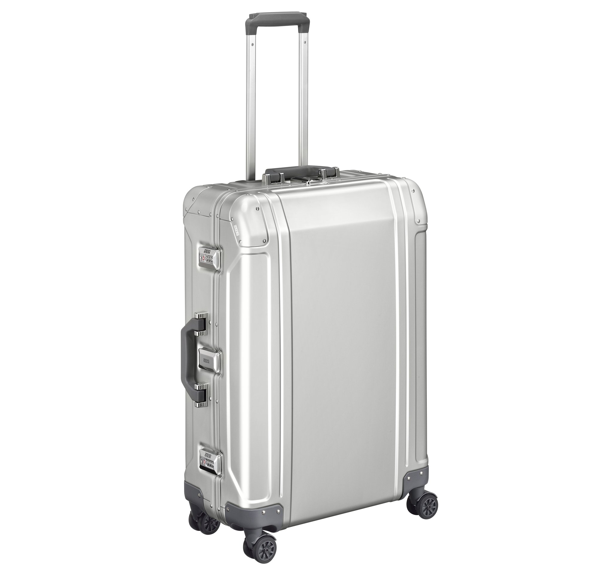 "Geo Aluminum 3.0 - 26"" 4-Wheel Spinner Travel Case by Zero Halliburton (Color: Silver)"