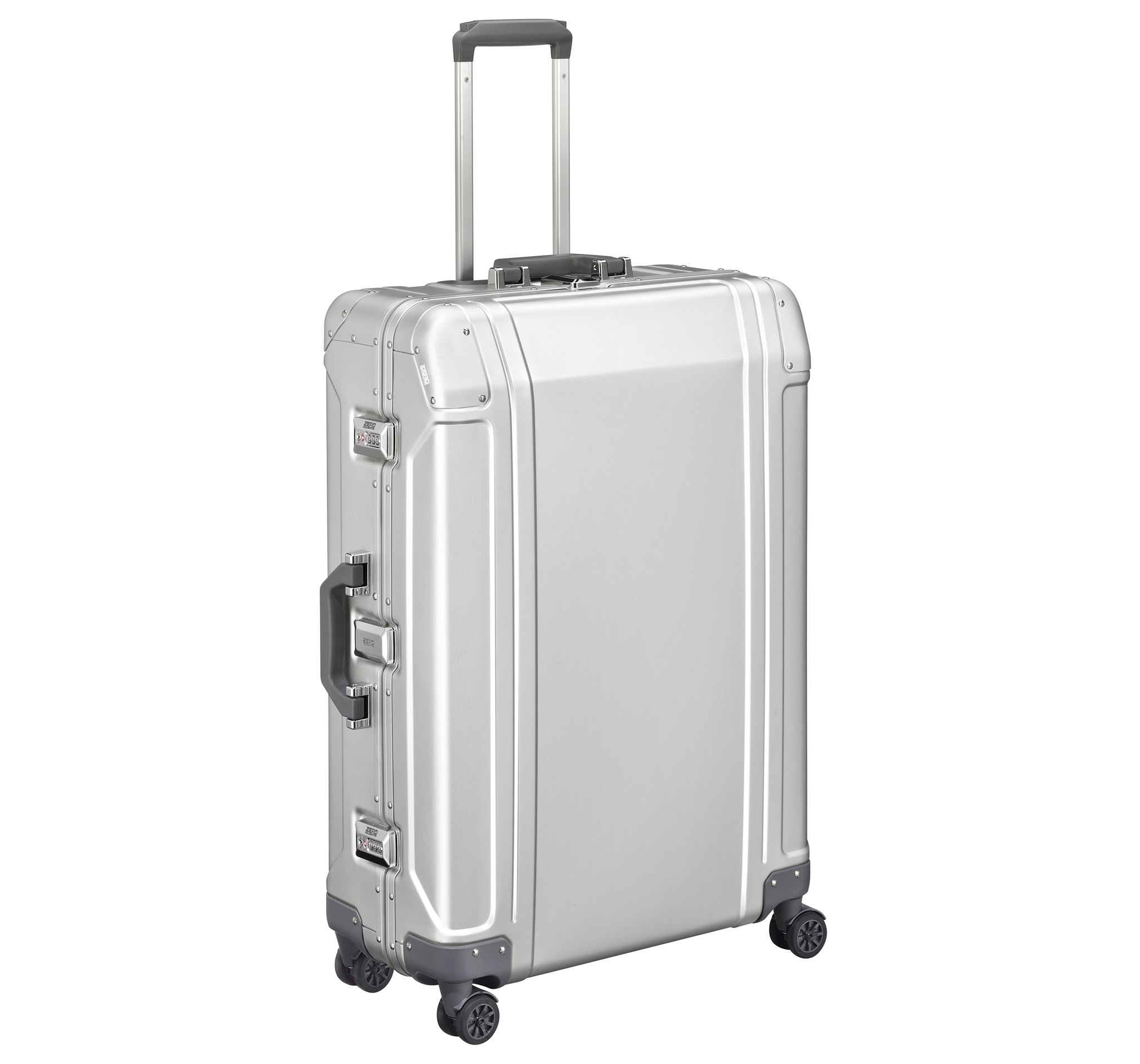 "Geo Aluminum 3.0 - 28"" 4-Wheel Spinner Travel Case by Zero Halliburton (Color: Silver)"