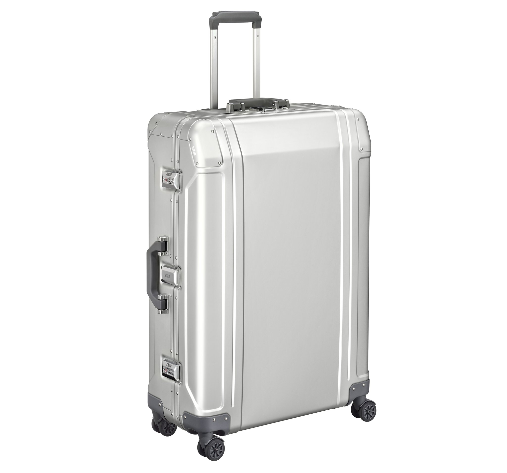 "Geo Aluminum 3.0 - 30"" 4-Wheel Spinner Travel Case by Zero Halliburton (Color: Silver)"