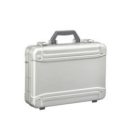 GEO Aluminum 3.0 Attaché - Small Computer Briefcase by Zero Halliburton (Color: Silver)