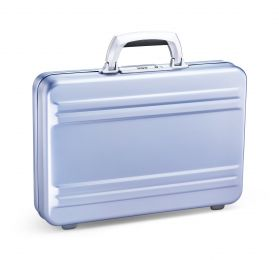 Slimline - Polished Blue Super Slimline Aluminum Attaché Case by Zero Halliburton (Color: Polished Blue)