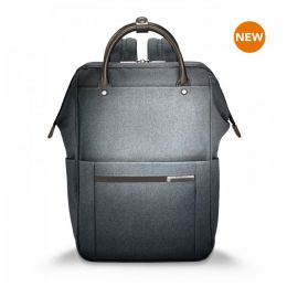 "Kinzie Street Framed Wide-mouth Backpack for 14.5"" h by Briggs & Riley (Color: Grey)"