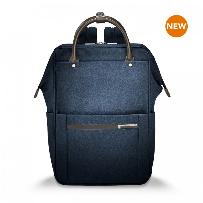 "Kinzie Street Framed Wide-mouth Backpack for 14.5"" h by Briggs & Riley (Color: Navy)"